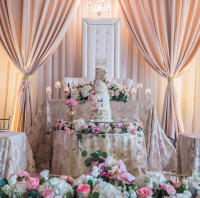 Wedding Cake, Wedding Backdrop, FLORALS, BLUSH BACKDROP, HEAD TABLE, DECOR, PLANNING, BEST WEDDINGS, LUXURY WEDDING PLANNING, TORONTO, GTA WEDDING, TORONTO WEDDING